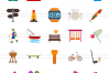 166 Activities Flat Icons example image 3
