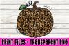 Leopard Print Pumpkin Print File Clipart example image 1