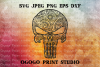Punisher Skull SVG, Zentangle SVG, Mandala svg, example image 1