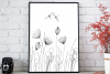 Flowers with Lines and Dots, A1, SVG example image 1