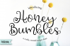 Honey Bumbles, a curly, round script font example image 1
