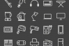 50 Home Electronics Line Inverted Icons example image 2