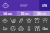 50 Baby Line Inverted Icons example image 1