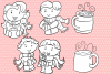 Winter Hot Cocoa Time Digital Stamps example image 2