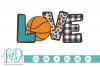 Basketball Mom - Biggest Fan - Love Basketball SVG example image 1