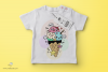 Cute Icecream Kawaii Illustration Printable JPG High-quality example image 3