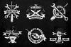 Workshop Emblems On Dark example image 2