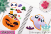 Halloween Candy Watercolor Clipart, Instant Download example image 3
