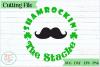 Shamrockin the Stache SVG cutting file example image 1