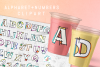 Hand Sketched Alphabet and Numbers 0 to 9 Clipart PNG Files example image 2