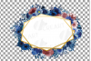 Watercolor elegant navy blue and blush floral borders vector example image 27