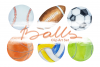 Watercolor Balls Clip Art Set example image 1