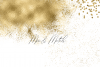 Gold Glitter Backgrounds, Gold Design PNG Elements example image 5
