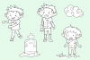 Zombie Boys Digital Stamps example image 3