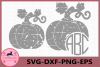 Pumpkin Grunge Svg, Pumpkin Monogram SVG File, Pumpkin example image 1