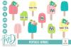 Monogram SVG - Floral SVG - Summer - Popsicle Bundle SVG example image 1