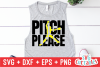 Pitch Please | Softball | SVG Cut File example image 1