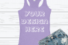 Anvil 6751L Racerback Tank Mockups with Background - 6 example image 4