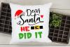 Dear Santa Christmas Bundle SVG cut files example image 5