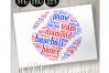 Baseball Word Art example image 1