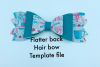 Hair bow template bundle #2 - hairbow svg files - diy bows example image 4