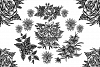 Blackwork flower Collection example image 1