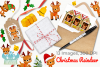 Christmas Reindeer Watercolor Clipart, Instant Download example image 4
