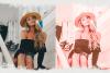Pink presets rose mobile lightoom pastel presets filter example image 3