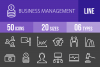 50 Business Management Line Inverted Icons example image 1
