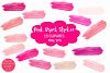 Pink Brush Strokes Clipart-Brush Strokes Clipart example image 1