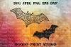 Bat SVG, Zentangle SVG, Batman SVG, Halloween svg, Mandala example image 1
