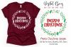Merry Christmas, wreath monogram frame example image 1
