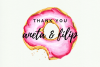 12 Watercolor Donuts Clipart, Pink Cute Donut, Wedding Bake example image 2
