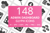 148 Admin Dashboard Glyph Icons example image 1