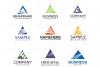 Triangle Logo Design Set example image 2