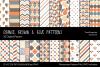 Orange, Brown & Blue Digital Papers example image 1