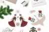 Nordic winter scandi christmas set example image 3