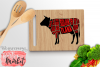 Cow Butcher SVG DXF EPS PNG example image 1