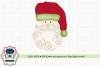 Watercolor Vintage Santa solid hat Sublimation Printable example image 1