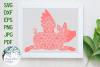 Flying Pig Mandala   Animal Mandala SVG Cut File example image 1
