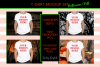 Halloween and Fall Boys t-shirt Mockup Bundle, Colored T's example image 5