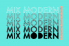 Mix Modern - A Layering Family of Fonts example image 1