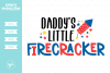 Daddy's Little Firecracker SVG DXF EPS PNG example image 1