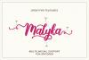Malyka - Handwritten Script example image 4