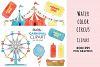 Carnival clipart, Big Top Circus, hot dog, ferris wheel example image 1
