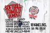 Softball Family Bundle - SVG - DXF - EPS - PNG - 18 Names example image 1
