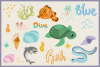 Underwater World 65 Vector Clipart & Seamless Patterns example image 3