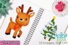 Christmas Reindeer Watercolor Clipart, Instant Download example image 3