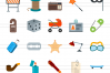 50 Objects Flat Multicolor Icons example image 2