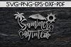 Summer Time Paper Cut Template, Summer Beach Decor SVG, PDF example image 4